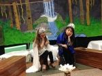 Princesses thinking about their shipwrecked parents and their missing dresses . . .